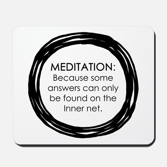 Meditation Inner Net Enso Quote Mousepad