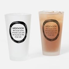 Meditation Inner Net Enso Quote Drinking Glass