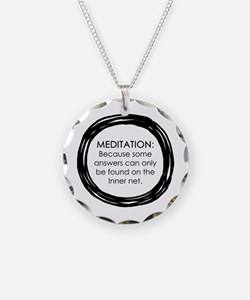 Meditation Inner Net Enso Necklace
