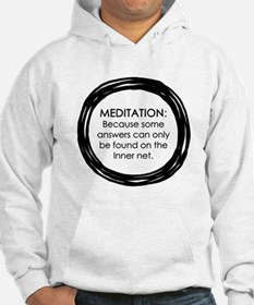 Meditation Inner Net Enso Quote Hoodie