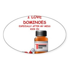 i love dominoes Decal