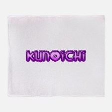 Purple Kunoichi W/bujinkan Throw Blanket