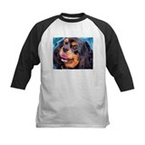 Kids black and tan spaniel Baseball Jersey