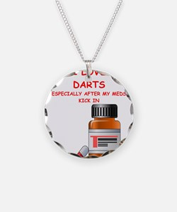 i love darts Necklace