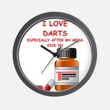 i love darts Wall Clock