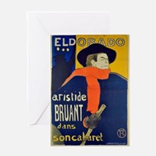 Aristide Bruant by Toulouse-Lautrec Greeting Cards