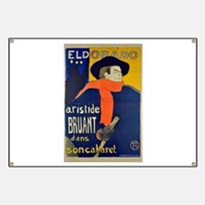Aristide Bruant by Toulouse-Lautrec Banner