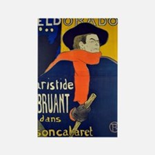Aristide Bruant by Toulouse-Lautrec Magnets