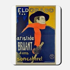 Aristide Bruant by Toulouse-Lautrec Mousepad