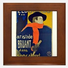 Aristide Bruant by Toulouse-Lautrec Framed Tile