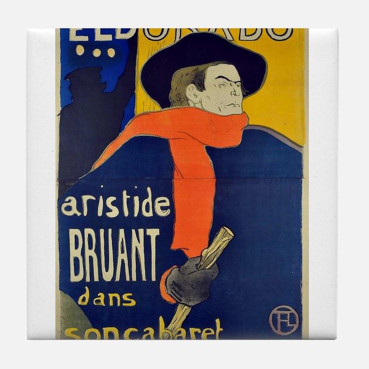 Aristide Bruant by Toulouse-Lautrec Tile Coaster