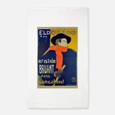 Aristide Bruant by Toulouse-Lautrec Area Rug