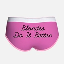 Blondes Do It Better Women's Boy Brief