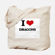 I Love Dragons Tote Bag