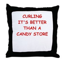 Cute I love curlers Throw Pillow
