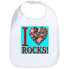 I Love Rocks! Bib