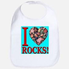 I Love Rocks! Bib