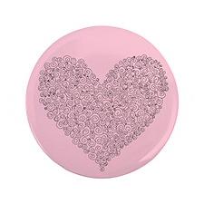 """Spiral Heart 3.5"""" Button"""