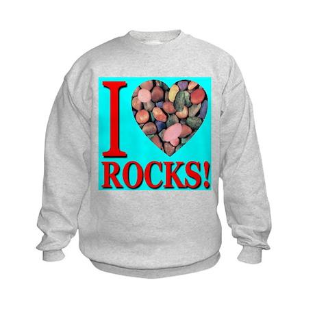I Love Rocks! Kids Sweatshirt