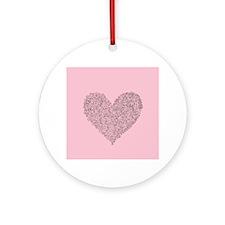 Spiral Heart Ornament (Round)