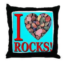 I Love Rocks! Throw Pillow