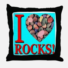 I Love Rocks! Throw Pillow