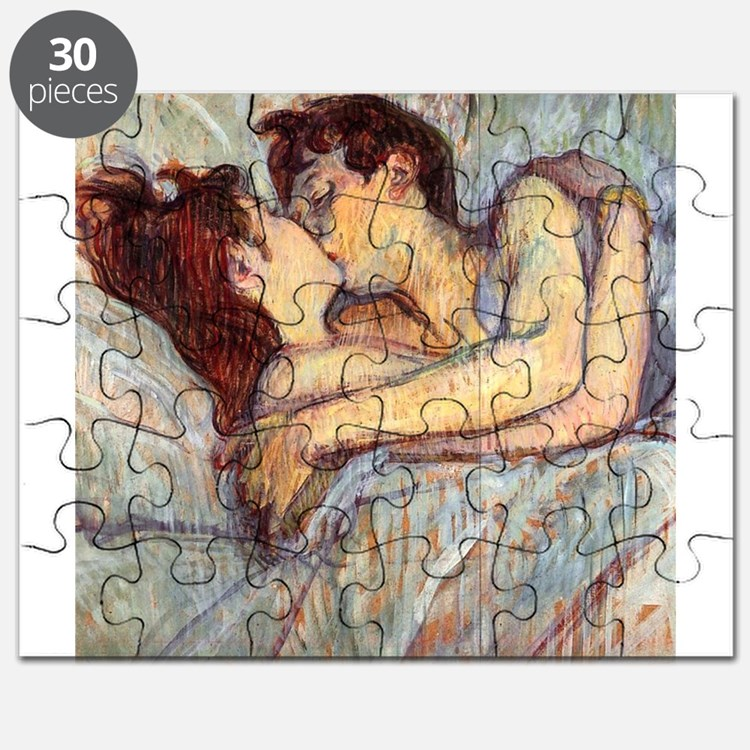 In Bed the Kiss by Toulouse-Lautrec Puzzle
