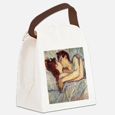 In Bed the Kiss by Toulouse-Lautrec Canvas Lunch B