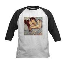 In Bed the Kiss by Toulouse-Lautrec Baseball Jerse