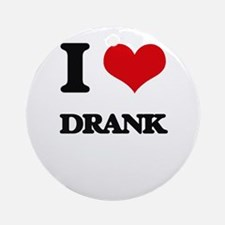 I Love Drank Ornament (Round)