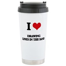 I Love Drawing Lines In Travel Mug