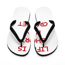 i love croquet Flip Flops