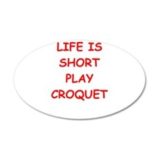 i love croquet Wall Decal