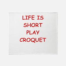 i love croquet Throw Blanket