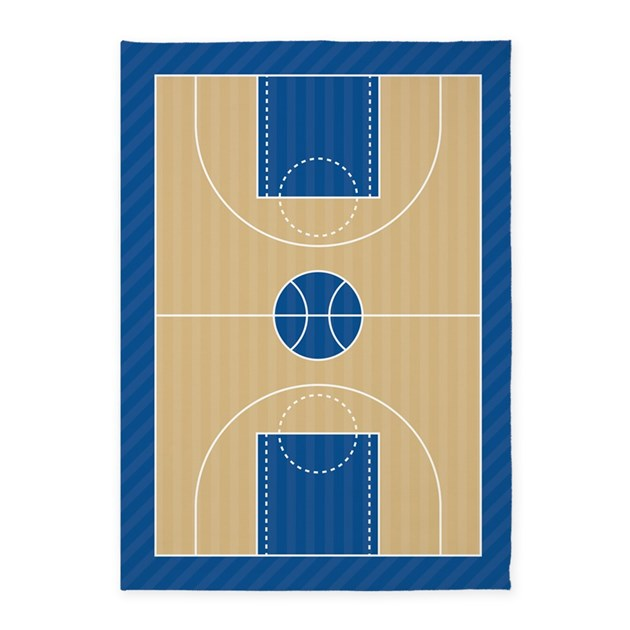 Basketball Court 5'x7'Area Rug By 1512boulevard