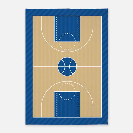 Basketball Court 5'x7'Area Rug