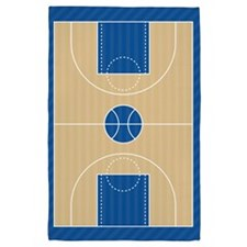 Basketball Court 4' x 6' Rug