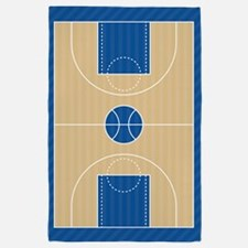 Basketball Court 4' x 6' Rug