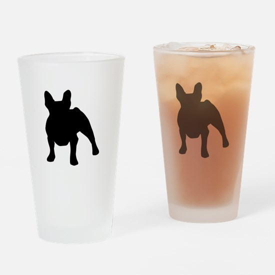 French Bulldog Shadow Drinking Glass