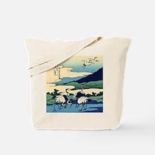 Japanese Crane Birds by Hokusai Tote Bag