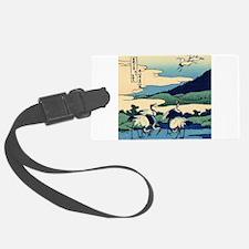 Japanese Crane Birds by Hokusai Luggage Tag