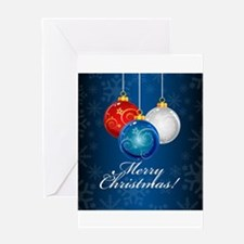 Patriotic Ornaments Merry Christmas Greeting Cards