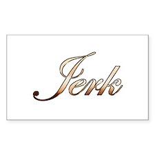 Gold Jerk Decal