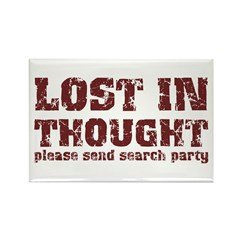 Lost in Thought Rectangle Magnet (100 pack)