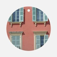 Shuttered windows in France Ornament (Round)
