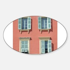 Shuttered windows in France Decal