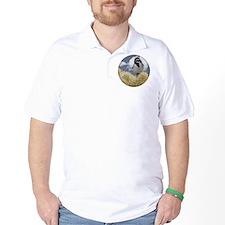 Black Throated Sparrow in Desert Cactus T-Shirt