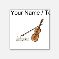 Custom Violin And Musical Notes Sticker