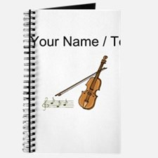 Custom Violin And Musical Notes Journal