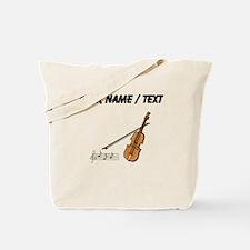 Custom Violin And Musical Notes Tote Bag
